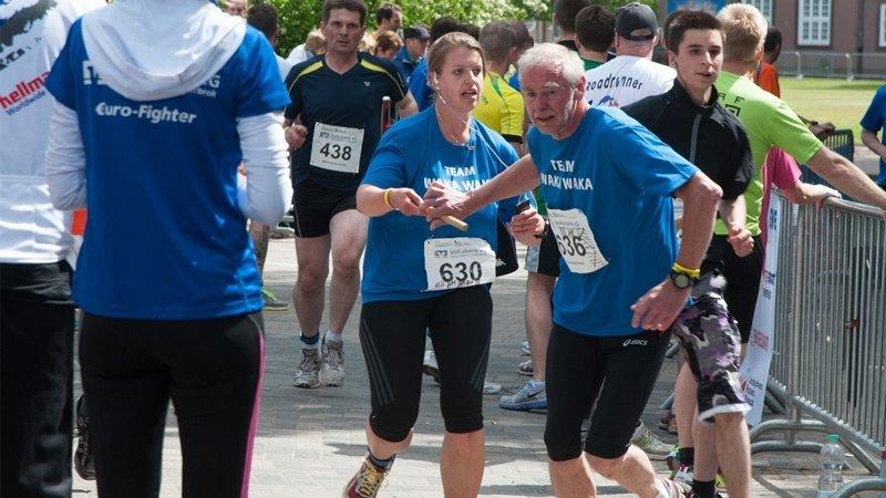 Nur noch Mitläufer – wie hier bei seiner aktiven Teilnahme 2013 –wird Dr. Johann Böhmann beim Burginsellauf 2017 sein. Foto: DK-Archiv